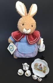 Stuffed Animal Display Stand Beatrix Potter Lot Mrs Rabbit Plush Peter Rabbit Mini Decorative 57