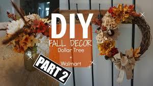 fall wreaths diy fall decor part 2 dollar tree wreath flowers