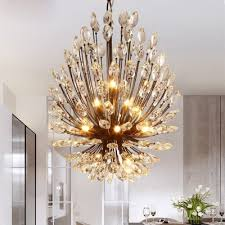 lanshi country style crystal chandelier lamp for living room