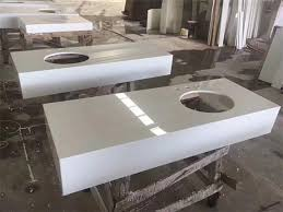 nano pure white composite quartz countertops