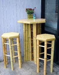 tiki bbt 30h with bbs 30h bar stool outdoor seating for bistro table set with planter divider