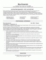 Example Of Resume Accounting Free Resume Example And Writing