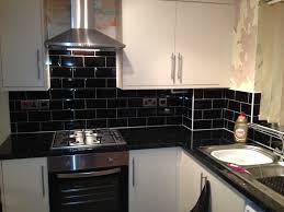 kitchen black tiles natural oak - Google Search | New Kitchen Design Ideas  | Pinterest | Kitchen black, Black tiles and Kitchen design
