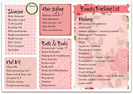 Beauty Packing List | Kimba Likes