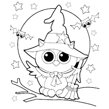 Small Picture Halloween Owl Witch Coloring Page Fall coloring pages