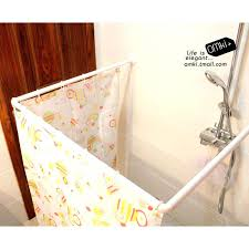 corner shower ideas curtain. Delighful Shower Beautiful Hotel Type Shower Curtain Ideas Corner Rod  With