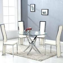 brilliant round glass dining table with 4 cream intended for small 2 chairs room sm