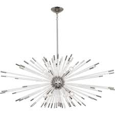 alexis polished nickel eight light chandelier