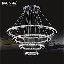 meerosee crystal chandeliers modern led ceiling lights fixtures in led idea 19