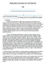 Durable Power Of Attorney Form Classy Poa Template Nerdcredco