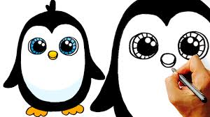 cute penguin drawing. Exellent Cute How To Draw A Cute Cartoon Penguin Art For Kids  YouTube In Penguin Drawing