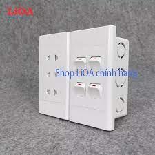 Lắp âm tường] Combo ổ cắm điện ba 2 chấu 16A (3520W) + 4 công tắc điện LiOA  - Lắp âm tường