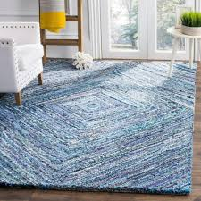 safavieh nantucket hand tufted blue cotton area rug 4