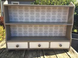 contact paper for furniture. Amy Scanlon Hutch. Hutch Makeover With Nottingham Damask Contact Paper For Furniture A
