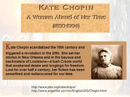 lecture notes on kate chopin s the story of an hour