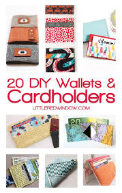 20 Diy Wallets And Cardholders Little Red Window