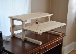 stand up desk plans contemporary regarding diy project plan two monitor standing computer enticing amazing for