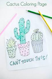 Small Picture Cactus Coloring Page Lil Luna