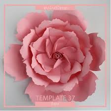 Giant Paper Flower Template Pdf Paper Flower Template Pdf Paper Flower Diy Paper Flower Giant Paper Flower Templates Base And Instruction Including