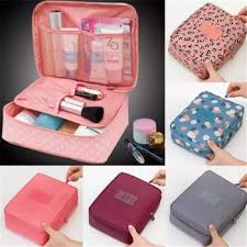 rushed fl nylon zipper makeup bag cosmetic case make up organizer