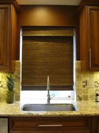 Custom Bamboo Window Shade In Kitchen Destin Fl  Angel BlindsBest Blinds For Kitchen Windows