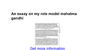 an essay on my role model mahatma gandhi google docs