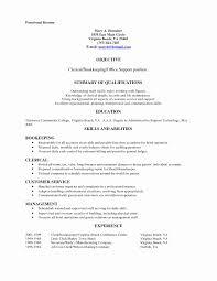 Resume Sample General Clerk Fresh Mail New Law Clerical Cover Letter