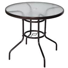 32 tempered glass top umbrella stand table patio round outdoor glass top table and chairs