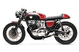 stunning red on black honda cb750 cafe racer