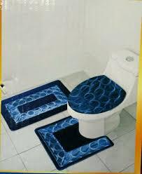 bath rugs and toilet seat covers brilliant blue bath abby 3 piece bathroom rug set