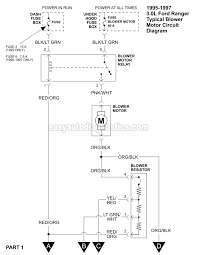 blower motor circuit diagram 1995 1997 3 0l ford ranger