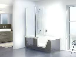 modern bathtub shower combo large size of trendy design with bath and combination curved ideas