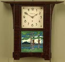 arts crafts 6 tile wall clock