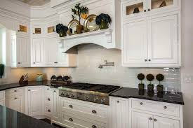 white kitchen cabinets subway tile backsplash blue pearl granite bring luxury and beauty to your kitchen