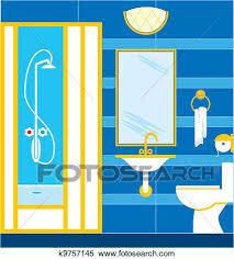 bathroom shower clipart. Contemporary Shower Clipart  Bathroom Shower Cabin Fotosearch Search Clip Art  Illustration Murals On Bathroom L