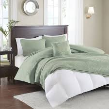 madison park quebec duvet cover king cal king size seafoam damask duvet cover set 4 piece ultra soft microfiber light weight bed comforter covers