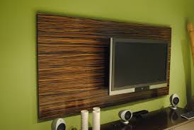 ebony wood wall covering for tv stand near cabinet