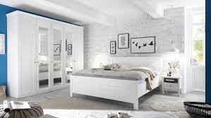 Schlafzimmer Set Bellevue Schrank Bett Kommode Landhaus In Pine Weiß
