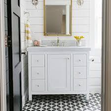 black and white bathroom floor tile. white bathroom with yellow accents black and floor tile f
