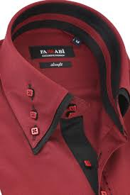 Mens Design Dress Shirts Mens Double Collar Maroon Dress Shirt Farrabi Slim Fit