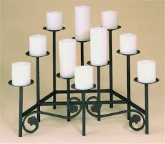 inspiring black fireplace candelabra with ten candles for home accessories ideas