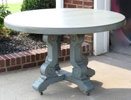 distressed round dining table milk painted round dining table weathered distressed grey finish sold distressed dining table and chairs