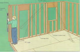 Standing the exterior wall framing