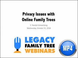 Privacy Issues With Online Family Trees By E Randol Schoenberg