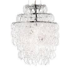 zuo cascade chrome ceiling lamp