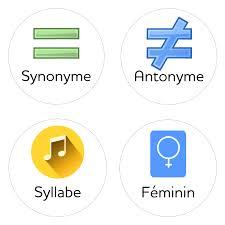 le jeu des synonymes