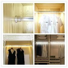 led closet lighting. Battery Operated Closet Lights Aluminum Led Wardrobe Rod Hanger With Motion Sensor Rechargeable Lighting
