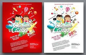 Summer School Flyer Template Camp Brochure Free Download