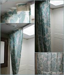 change out travel trailer shower curtain tutorial trailer love curtain tutorial change and tutorials