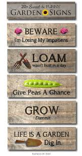 5 sweet funny garden sign ideas